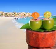 Strand Riviera van Mexico van het Playa del Carmen Mayan Stock Foto