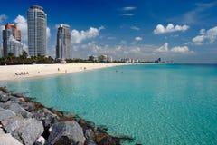 strand södra miami Arkivbild
