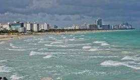 strand södra miami s Arkivbilder