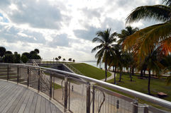 Strand an Süd-Pointe-Park, Südstrand, Florida Lizenzfreie Stockbilder