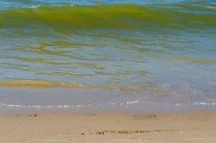 Strand sand, hav royaltyfri fotografi