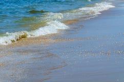 Strand sand, hav royaltyfria foton