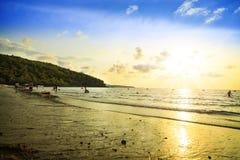 Strand in Sattahip Chonburi Thailand Lizenzfreie Stockfotos