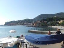 Strand in Savonna Italië Stock Foto