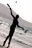 Strand-Schattenbild lizenzfreie stockbilder