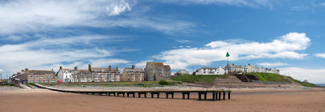 Strand in Seascale, Cumbria. Engeland royalty-vrije stock foto's