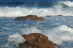 Strand-Serie: Auf den Felsen Stockbild