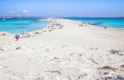 Strand Ses Illetas, Formentera, Spanien royaltyfria bilder