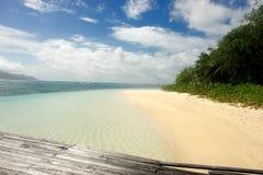 Strand Seychellen. Insel-La Digue. stockfoto