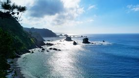 Strand Silencio/Gavieiro im Spanien lizenzfreies stockfoto