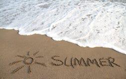 Strand, sol och sommar, havsvåg Arkivbild