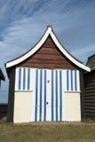 Strand som förlägga i barack på Mablethorpe royaltyfri foto