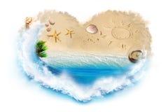 strand som jag älskar Royaltyfria Foton