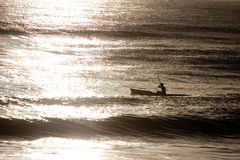 strand som kayaking royaltyfri foto