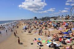 Strand am Sommer. Lizenzfreie Stockfotografie