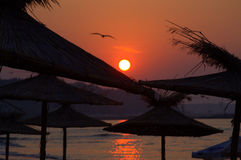 Strand-Sonnenaufgang Lizenzfreie Stockfotos