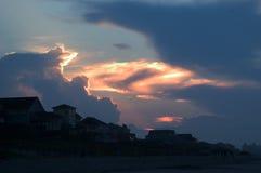 Strand-Sonnenaufgang, Emerald Isle Lizenzfreie Stockbilder