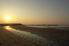Strand-Sonnenuntergang Stockfoto
