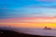 Strand am Sonnenuntergang Lizenzfreie Stockfotografie