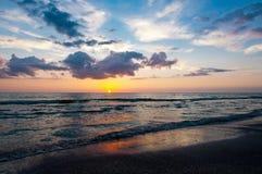 Strand-Sonnenuntergang Stockbild