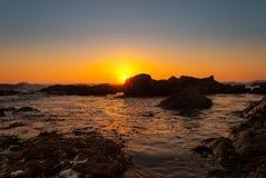 Strand-Sonnenuntergang Stockbilder