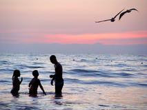 Strand am Sonnenuntergang