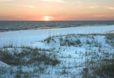 Strand-Sonnenuntergang Stockfotografie