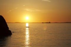 Strand-Sonnenuntergang lizenzfreie stockbilder