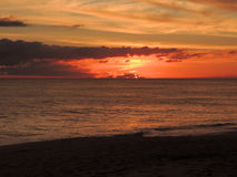 Strand-Sonnenuntergang 006 Lizenzfreie Stockfotografie