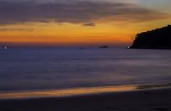 Strand-Sonnenuntergang Phuket-Insel Thailand Lizenzfreies Stockbild