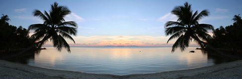 Strand-Sonnenuntergang - Reinheit Stockfotos