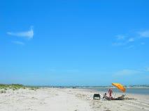 Strand in South Carolina Amerika Lizenzfreies Stockfoto