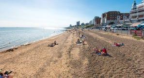 Strand in Southend op overzees Stock Afbeeldingen