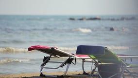 Strand in Spanien, Stadt von Vinaros stock footage