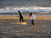 Strand-Spiel Stockbilder