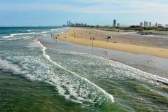Strand am Spucken auf dem Gold Coast von Queensland, Australien stockbild