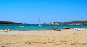 Strand in Srima, Kroatien Stockbild