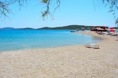 Strand in Srima, Kroatien Lizenzfreies Stockfoto