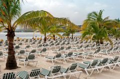 Strand-Stühle Stockbild