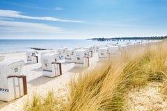 Strand-Stühle stockfotos