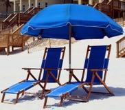 Strand-Stühle Stockfotografie
