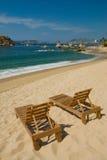 Strand-Stühle Lizenzfreies Stockbild
