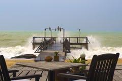 Strand stürmisch Stockbilder