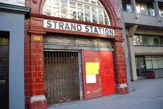 Strand Station, London Royalty Free Stock Photography