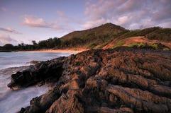 strand stora hawaii maui Royaltyfri Fotografi