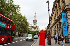 Strand street Central London England United Kingdom Royalty Free Stock Photography