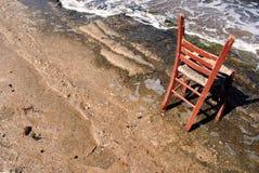 Strand-Stuhl, Athen, Griechenland Lizenzfreies Stockfoto