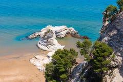 Strand Summer Lido di Portonuovo, Italien Lizenzfreies Stockbild