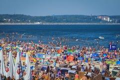 Strand in Swinoujscie stockbilder