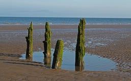 Strand-Szene, nahe Silloth, Cumbria, See-Bezirk Stockfoto